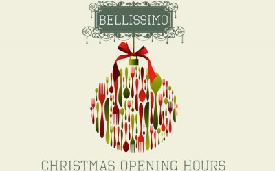 Bellissimo Christmas 2016 Opening Hours